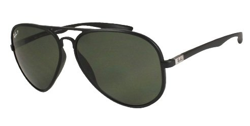 Ray Ban RB4180 Tech Sunglasses-882/82 Green (Polar Silv Mirror Grad Lens)-59mm