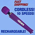 10 Speed Purple Magic Wand - Cordless / Rechargeable Personal Massager / Better Than The Hitachi Magic Wand
