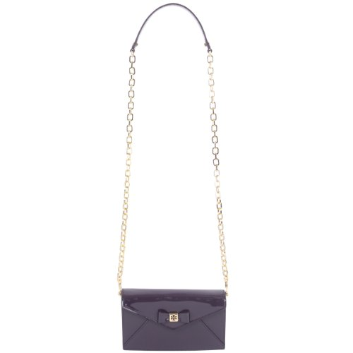 Tory Burch Tory Burch Bow Envelope Crossbody Mini Bag in Tribe Violet