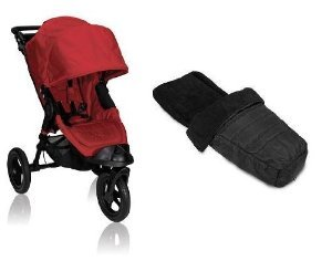 Baby Jogger 2012 City Elite Stroller WITH Baby Jogger Black Footmuff (Red) by BaJogger