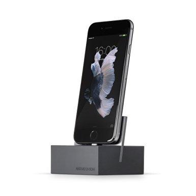 Native Union DOCKfür iPhone oder iPad - beschwerte Ladestation für iPhone oder iPad - außerdem kompatibel mit nahezu allen Apple Lightning-Geräten (Schiefer)
