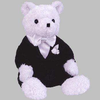 TY Beanie Baby - GROOM the Wedding Bear - 1