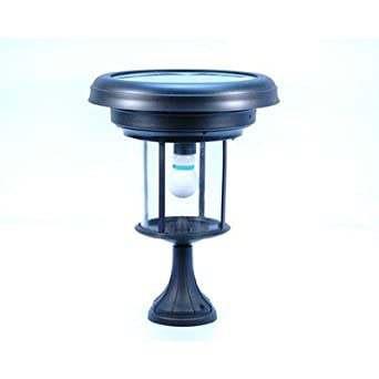 Niles Series Solar Pier Mount Lantern