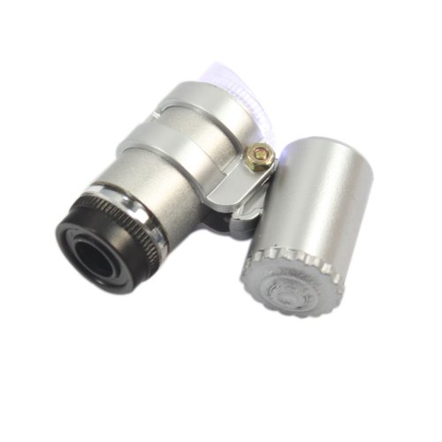 45X Magnification Mini Pocket 2 Led Jeweler Jeweler'S Jewelry Microscope Magnifier Magnifying Adjustable Eye Loupe