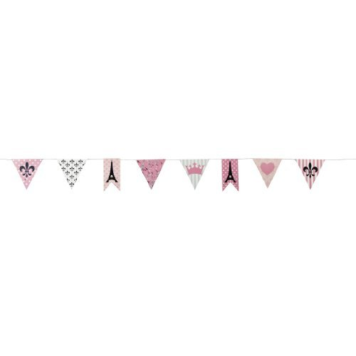Perfectly Paris Pennant Banner by Fun Express (Paris Party Decorations)