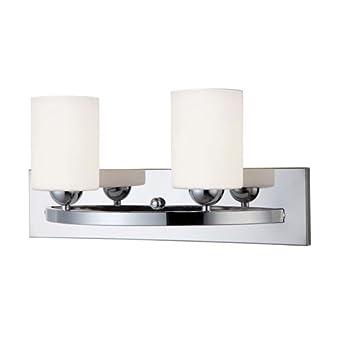 Hampton 2 Light Bath Vanity Light Finish Chrome Vanity Lighting Fixtures