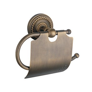 Antique brass wall mounted toilet roll holder guide Antique toilet roll holders