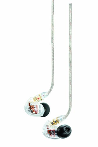 Shure Se535-Cl Triple High-Definition Microdriver Earphone With Detachable Cable (Clear)