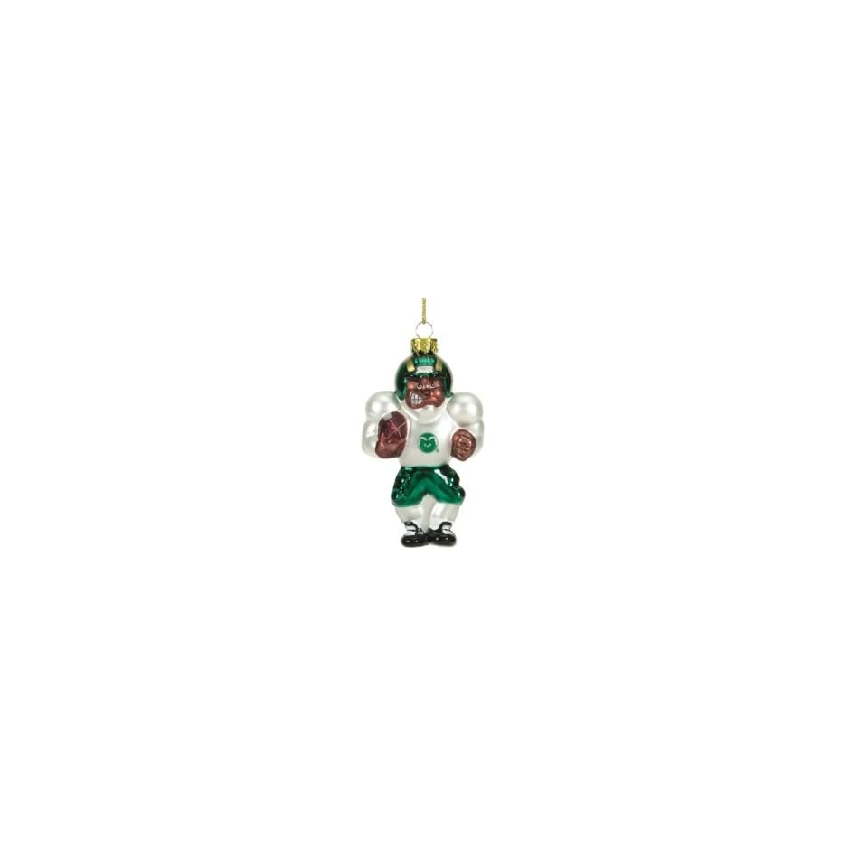 Colorado State Rams NCAA Glass Player Ornament (4 African