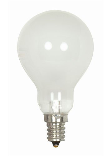 Satco S2741 120V Candelabra Base 40-Watt A15 Light Bulb, Frosted picture