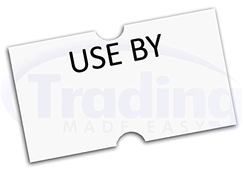 Price Gun Labels (CT1 Punch Hole) White Use By 22 x 12mm