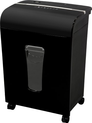 Sentinel FM120P 12-Sheet High Security Micro-Cut Paper/CD/Credit Card Shredder with Pullout Basket, Black