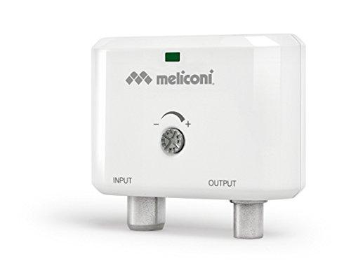 Meliconi 880101 Amplificatore d'Antenna Digitale per Interni, Bianco