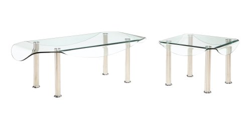 Image of Global Furniture CB020E Bend Glass End Table (CB020E)