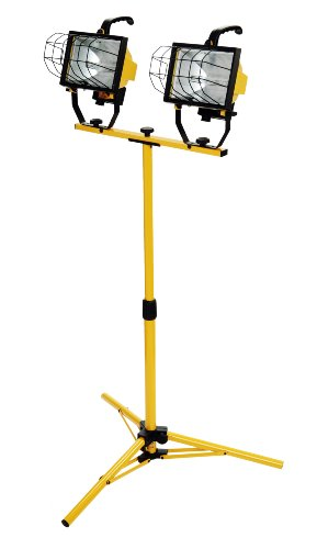 Designers Edge L13 1000-Watt Telescope Work Light With Telescoping Tripod Stand, 120-Volt