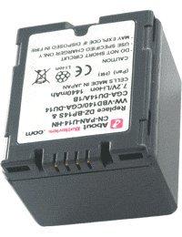 Akku für PANASONIC NV-GS320EB-S, Hohe Leistung, 7.2V, 1440mAh, Li-Ionen