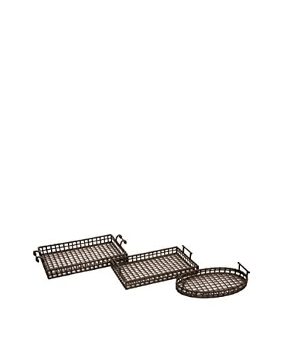 Set of 3 Cki Urban Iron Trays