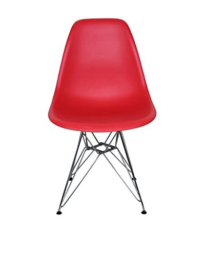 Macer Home Wire Side Chair, Red