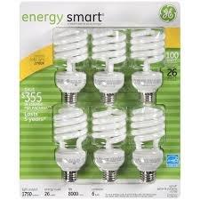 Ge 26 Watt Energy Smart Cfl - 6 Pack - 100 Watt Replacement front-106921