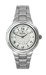 Bulova Stainless Steel Mother-of-Pearl Dial Women's Watch #96L169
