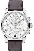 Montblanc Timewalker Twinfly Chronograph White Dial Brown Leather Mens Watch 109134 from Montblanc