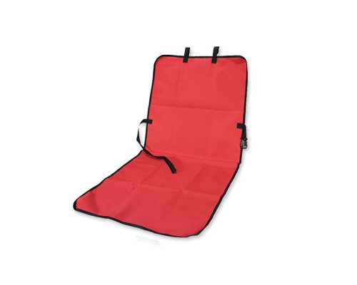 "Comfort Waterproof Bucket Single Car Seat Cover For Pets Dogs 43"" L X 21"" W - Red front-118752"