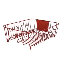 Red Large Rubbermaid Wire Dish Drainer