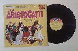 """La Walt Disney Productions """"Gli Aristogatti parte II"""" Oreste Lionello LP +"""
