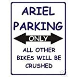 L1887 LARGE ARIAL MOTORBIKE PARKING ONLY METAL ADVERTISING WALL SIGN RETRO ART