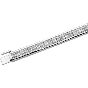 CleverEve's 14K White Gold 8 3 8 Ct Tw Diamond Bracelet