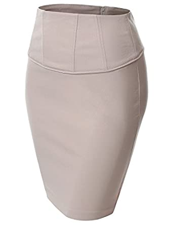 J.TOMSON Womens Front Zip Stretchy Pencil Skirt