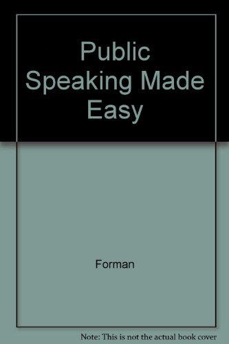 Public Speaking Made Easy