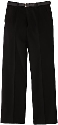 Trutex Limited Boy's Flat Plain Trousers, Black, 16 Years (Manufacturer Size: 36R)