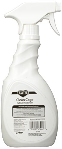 Kaytee Clean Cage Habitat Deodorizer Spray, 16-Ounce