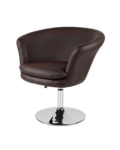 Furniture Contempo Kristina Chair, Chocolate/Chrome