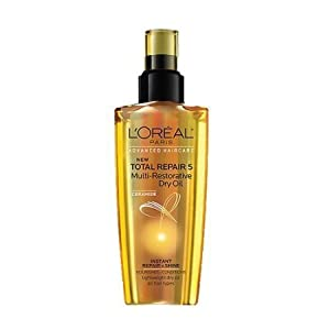 L'oreal Paris Total Repair 5 Multi-Restorative Dry Oil, 3.4 Ounce