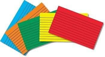 Top Notch Teacher Products TOP3663 Border Index Cards 4 X 6 Lined Primary Colors 75Ct