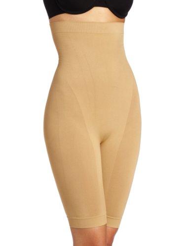 Heavenly Shapewear Women's Seamless High Waist Long Leg Slimmer, Nude, Large
