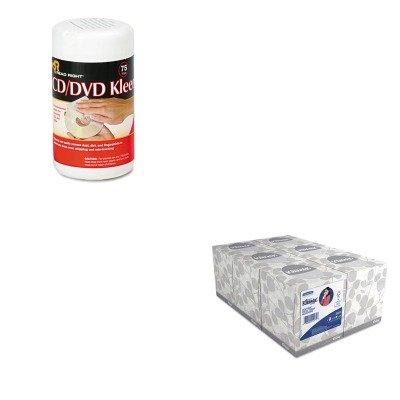 Kitkim21271Rearr1420 - Value Kit - Read Right Cd/Dvd Kleen Cleaner Wet Wipes (Rearr1420) And Kimberly Clark Kleenex White Facial Tissue (Kim21271)