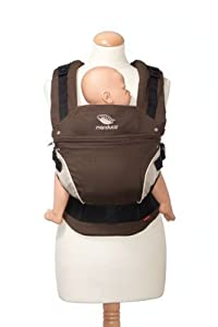 Porte bébé ergonomique bio Manduca Chocolat