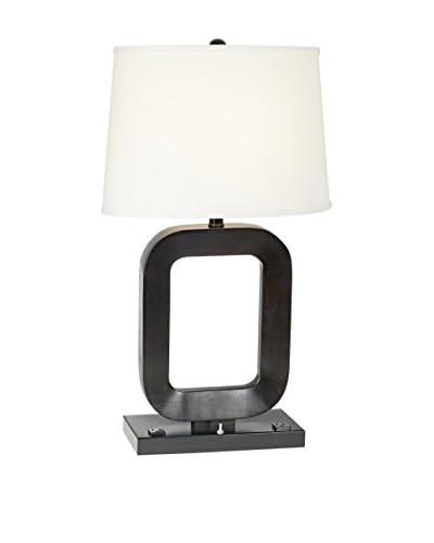 Pacific Coast Lighting Wood Frame/Espresso Finish Table Lamp, Espresso