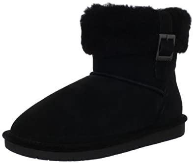 BEARPAW Women's Abby Snow Boot,Black,5 M US