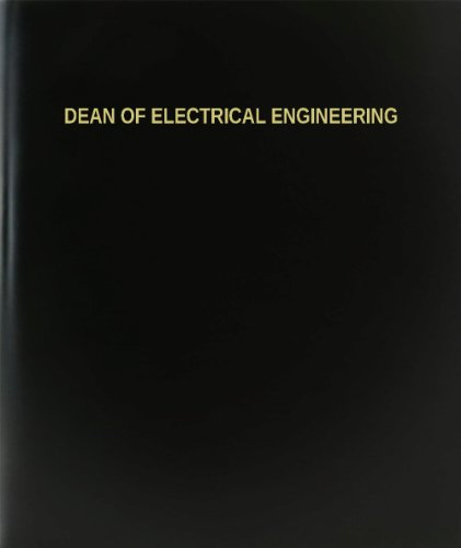 "Bookfactory® Dean Of Electrical Engineering Log Book / Journal / Logbook - 120 Page, 8.5""X11"", Black Hardbound (Xlog-120-7Cs-A-L-Black(Dean Of Electrical Engineering Log Book))"