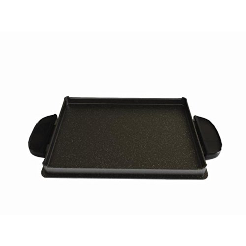 George Foreman GFP84GP Evolve Grill 84-Square Inch Shallow Griddle Accessory Pan, Black (George Foreman Pan compare prices)