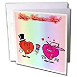 Edmond Hogge Jr Valentines Day - Happy Valentines Day Couple - Greeting Cards-6 Greeting Cards with envelopes