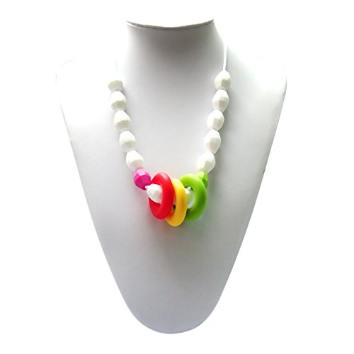 Adelily Nontoxic Nursing & Teething Necklace: Candy-colored Beads