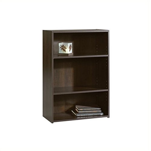 Sauder Beginnings 3-Shelf Bookcase in Cinnamon Cherry Narrow 3 Shelf Bookcase