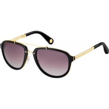 Marc Jacobs Mj515/S Sunglasses-00Ot Yellow Gold/Black (Pb Pink Grad Lens)-56Mm