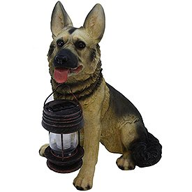 Tricod German Shepherd Dog With Lantern Solar Light