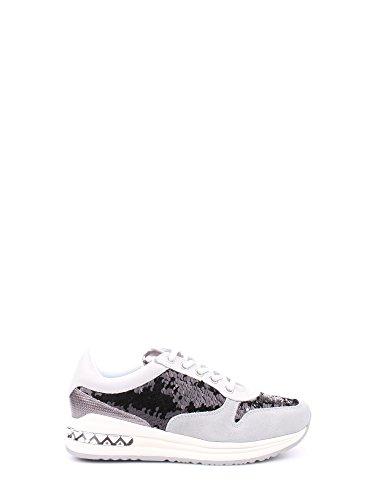 CAFÈ NOIR Sneaker donna running nero fumè con paillettes P/E 2016 cod. DA642 (40)
